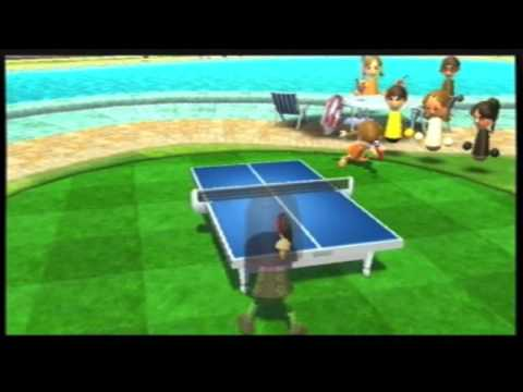 Beating lucia in wii table tennis 6 0 youtube for Table tennis 6 0