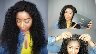 HOW TO SLAY || BEST AFFORDABLE BRAZILIAN CURLY LACE FRONTAL WIG || CHINALACEWIG