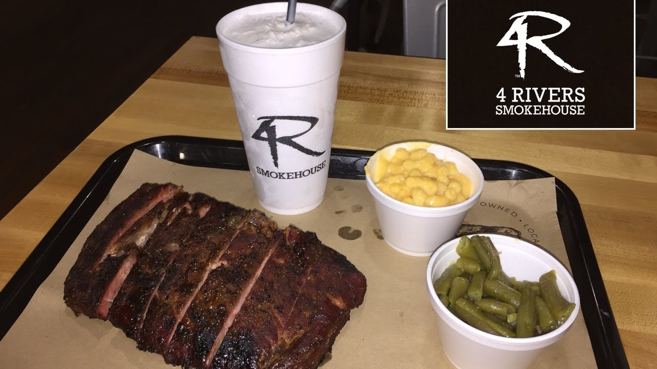Trying 4 Rivers Smokehouse in Orlando! (Food Review & Tour) - YouTube