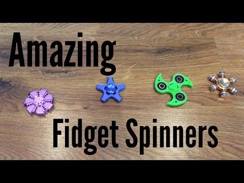 Fidget Spinner Collection Review Plastic Original Blade Metal Ninja Star Aluminum Gold Color Spinner