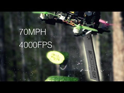 70 MPH DRONE Vs FRUIT in SLOW MO    Experiment, Cause I Can
