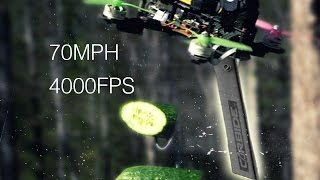 70 MPH DRONE Vs FRUIT in SLOW MO || Experiment, Cause I Can