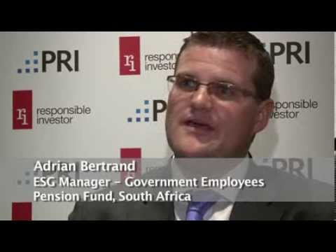 Adrian Bertrand, ESG Manager, at South Africa's Government Employees Pension Fund