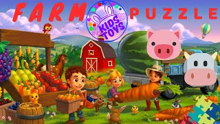 KidsToys : Learning Farm Animals Puzzle Completed  for Kids Children | Let's Play!