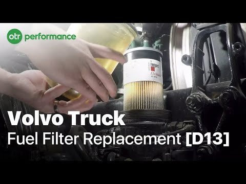 volvo truck davco fuel pro 382 fuel filter | how to | otr performance -  youtube