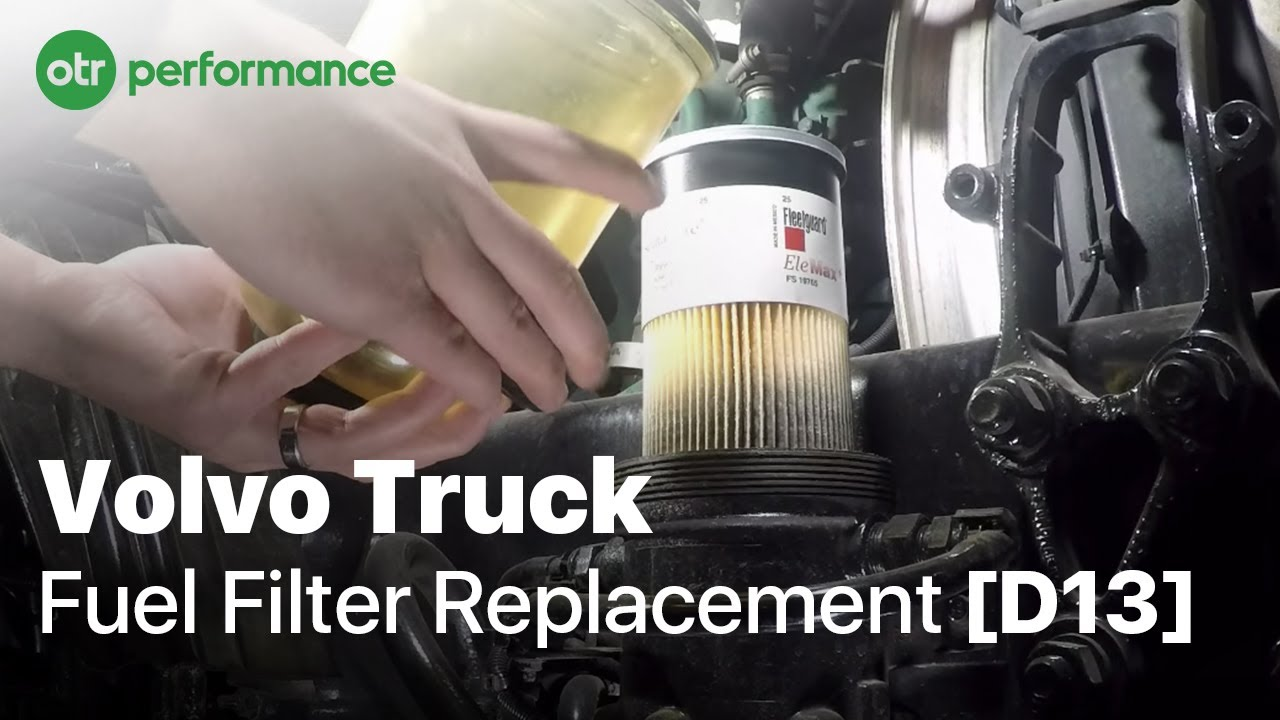 Volvo Truck Davco Fuel Pro 382 Fuel Filter How To Otr