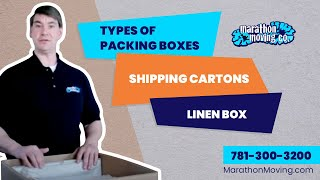 Types of Packing Boxes, Shipping Cartons, Linen Box