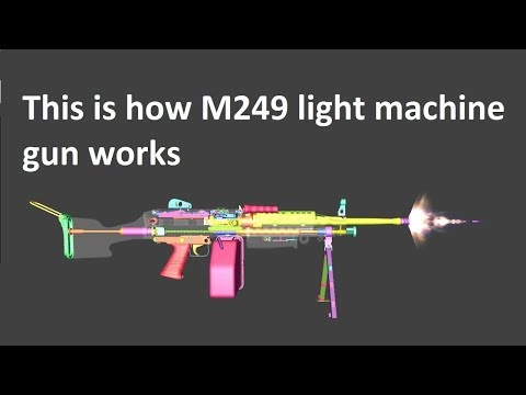 This Is How M249 Light Machine Gun Works