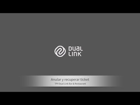 Dual link Bar & Restaurant: Anular y recuperar ticket
