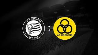 Spielaufzeichnung: Sturm Graz 1:1 AC Horsens (0:0)