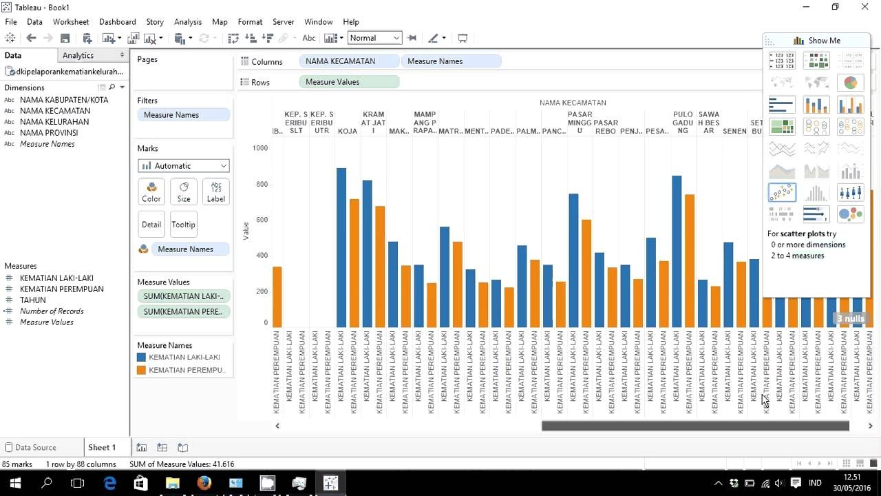 Project Data Visual Using Tableau Export From Excel Create Visualization Calculations Drill Down Youtube