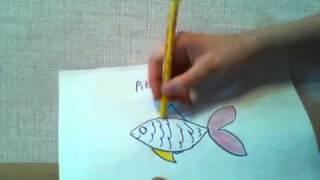 Урок рисования рыбы