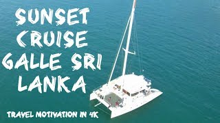 Sunset cruise Galle Sri Lanka in 4K | Travel Motivation | By Mi 4K drone, and Yi 4K Action camera