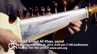 UMS Presents: Ustad Amjad Ali Khan on Improvisation in Indian Music & Sarod