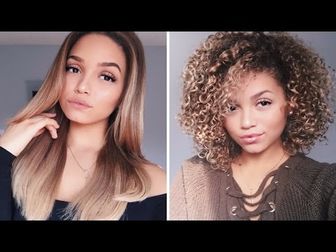 Updated Blow Dry Routine   How to Blowdry Curly Hair Straight   Ashley Bloomfield