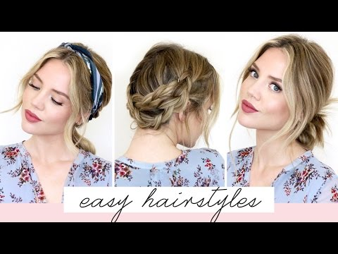 5 Easy Hairstyles For Short/Medium Length Hair
