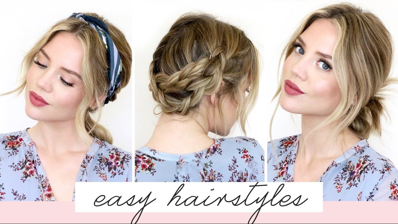 Cute Hair Styles For Medium Hair: 5 EASY Hairstyles For Short/Medium Length Hair [Spring