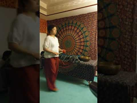 ChiChu doing singing bowls therapy 16th Jun 2019