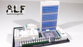 Lego Architecture 21018 United Nations Headquarters - Lego Speed Build Review