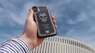 Чехол для телефона iPhone X. Мексиканский череп. Jumo Carbon Case.