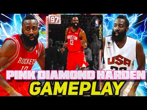 037aaa22d03 NEW PINK DIAMOND JAMES HARDEN IS UNGUARDABLE! BEST NBA 2K19 MYTEAM MOMENTS  CARD!
