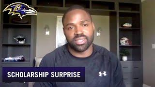 Torrey Smith Surprises Ravens Scholars With $20,000 Scholarships | Baltimore Ravens