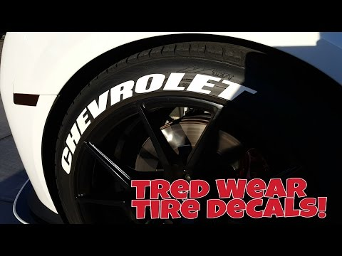 My Review Tred Wear Tire Decals! (Tutorial)