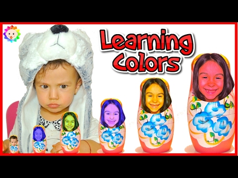 Thumbnail: NEW Learn Colours with RUSSIAN DOLL for REAL BABIES 👶 BAD BABY Kids Learning Colours