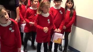 Natale al businco 2017 - il piccolo coro non siamo angeli di selargius