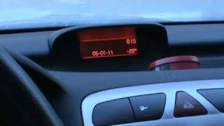 peugeot 307 2 0 hdi cold start at 20 celsius degrees