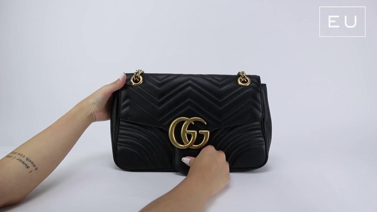 Bolsa Gucci GG Marmont Matelassê   Etiqueta Única - YouTube a5e7a7ee0e