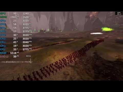 Total War: Warhammer II Ryzen 5 2400G Vega 11 iGPU - Gameplay Benchmark Test