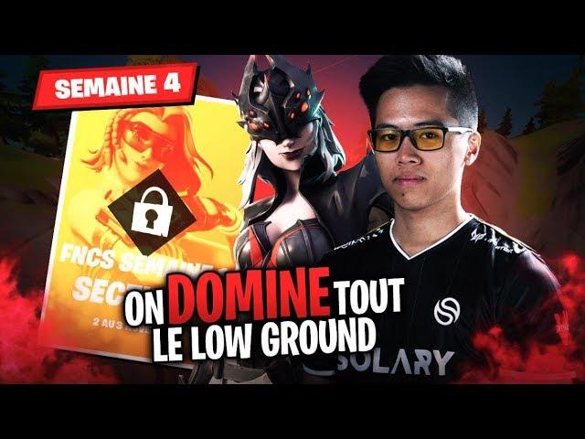 ON DOMINE TOUT LE LOW GROUND ► FNCS SEMAINE 4 AVEC NYHROX ITEMM ET ZINO