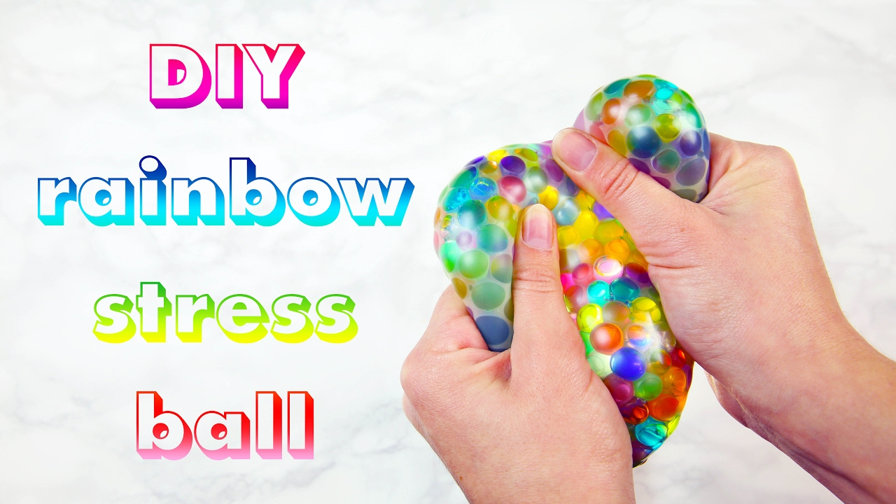 diy rainbow stress ball youtube. Black Bedroom Furniture Sets. Home Design Ideas