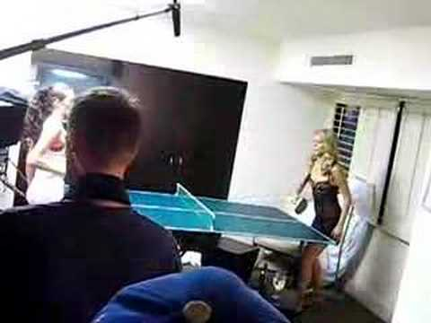 Ping Pong backstage on the video shoot