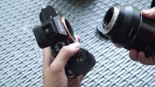 tren tay samyang 50mm f14 cho ngam e fullframe