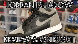 "Jordan Retro 1 ""Shadow"" Review, On Foot & Pick Up Vlog! 2018!"