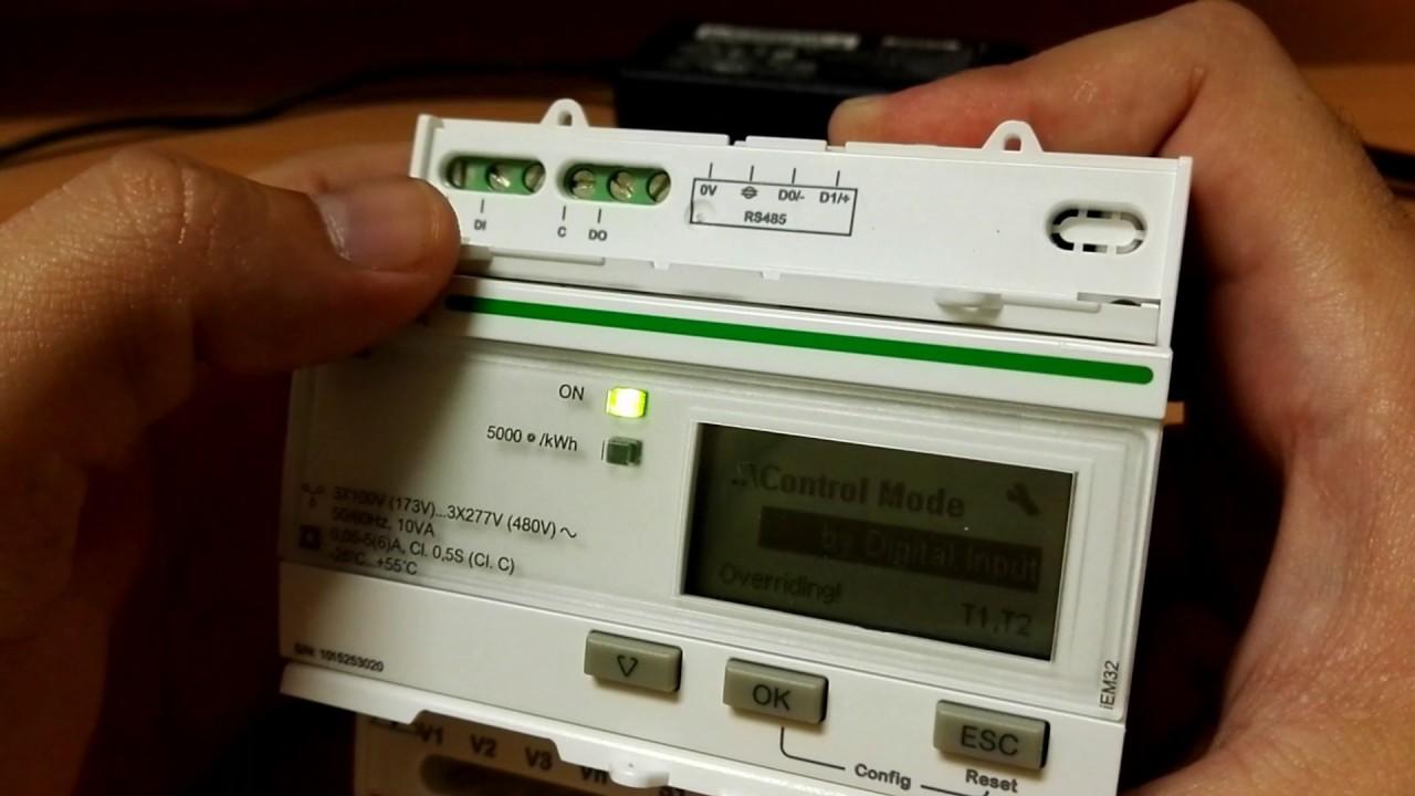 Menu Medidor Schneider Electric Iem3255 A9mem3255