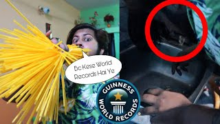 WE TRIED BREAKING GUINNESS WORLD RECORDS😱😍 **Painfull**