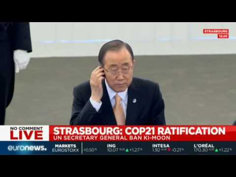LIVE: COP21 ratification in Strasbourg