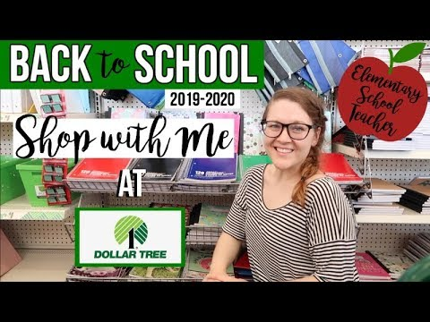 DOLLAR TREE BACK TO SCHOOL | SHOP WITH ME | NEW FINDS 2019!!!