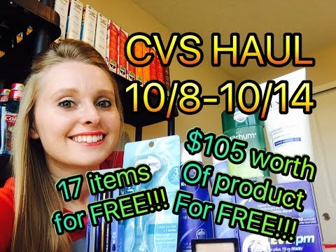 CVS HAUL 10/8/17-10/14/17~20 items for...