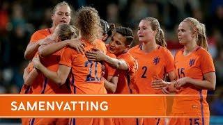 Highlights Oranjevrouwen - IJsland (11/4/2017)