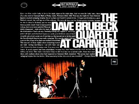 The Dave Brubeck Quartet  Take Five  At Carnegie Hall 1963