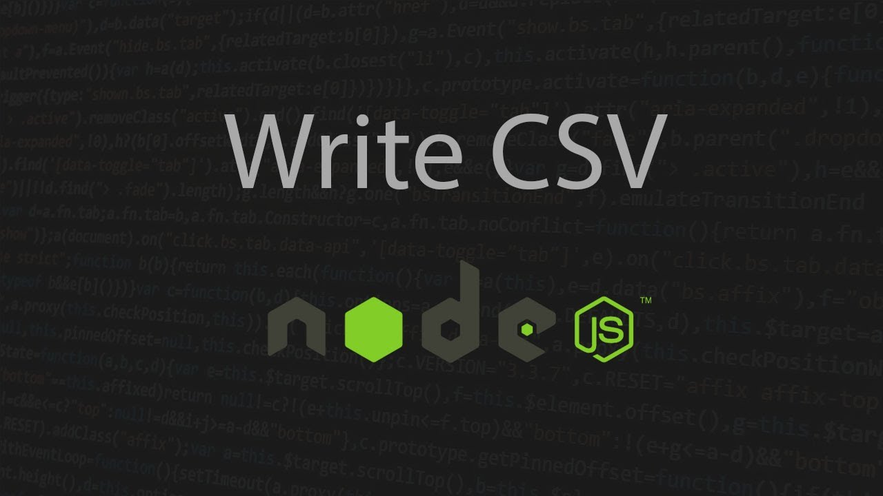 How to Write CSV File in Nodejs