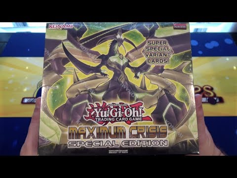 Yugioh Maximum Crisis Special Edition Box Opening - Weird Box but Awesome!!!