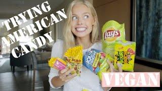 Trying American Candy (VEGAN) | Cornelia
