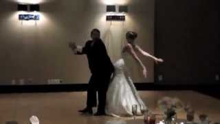 best father daughter wedding dance (dougie, wobble, stanky leg, bernie)