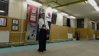 hidari nagare kaeshi uchi -jo [TUTORIAL] basic Aikido weapon technique /men no bu