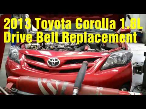 2013 Toyota Corolla drive belt replacement - YouTube
